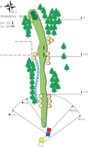 Hole N°2 Course A Bitche Golf