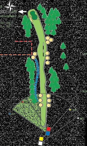 Loch 1 - A Golfplatz in Bitche