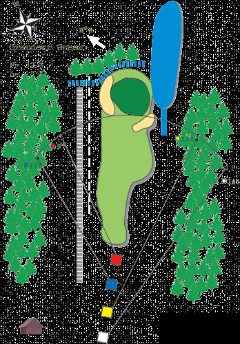Hole N°3 Course A Bitche Golf