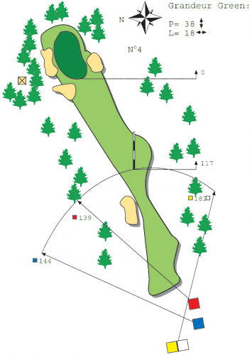 Hole N ° 3 Course B Bitche Golf