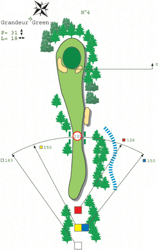 Hole N ° 3 course C Bitche Golf