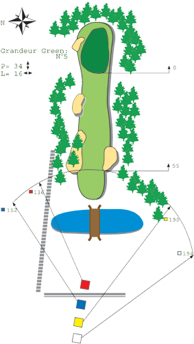 Hole N°4 Course A Bitche Golf