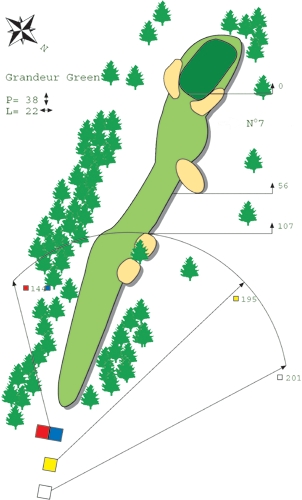 Hole N ° 6 Course B Bitche Golf
