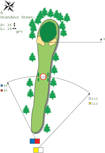 Hole N ° 6 course C Bitche Golf