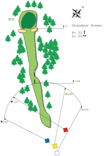 Hole N ° 7 Course B Bitche Golf