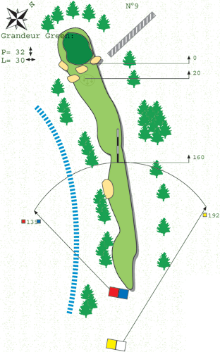 Hole N ° 8 Course B Bitche Golf