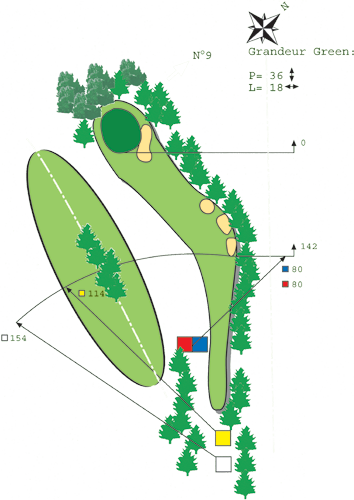 Hole N ° 8 course C Bitche Golf