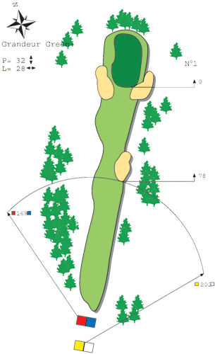 Hole N°9 Course A Bitche Golf